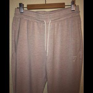 Gymshark Pink Zip Pocket Joggers Size Medium